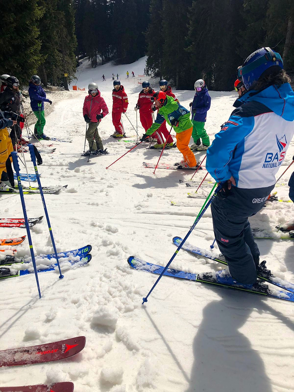 Irish Interski Team on-snow workshops at Interski 2019
