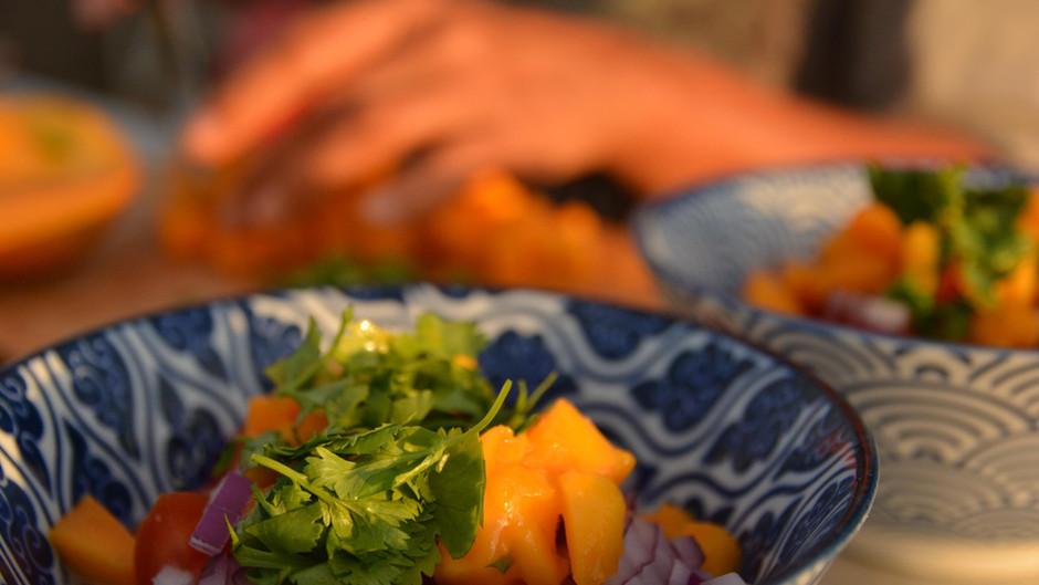 Ceviche mit Ingwer und Mango