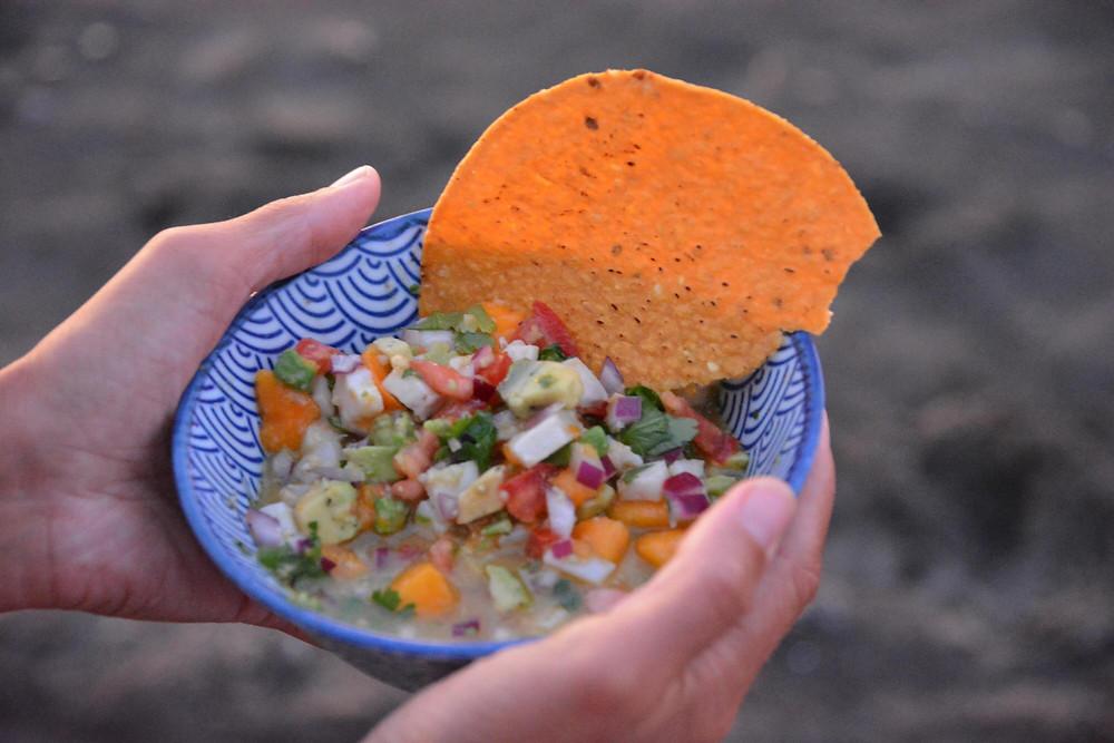 Ceviche mit Mango und Ingwer