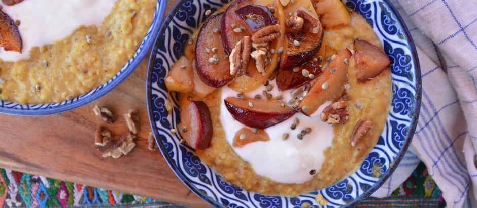 Kurkuma Porridge - oder wenn dies die Karte eines hippen Cafés wäre - Golden Milk Porridge