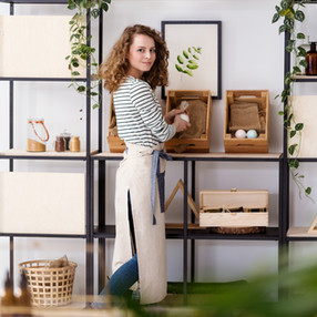Saleswoman in Boutique Store