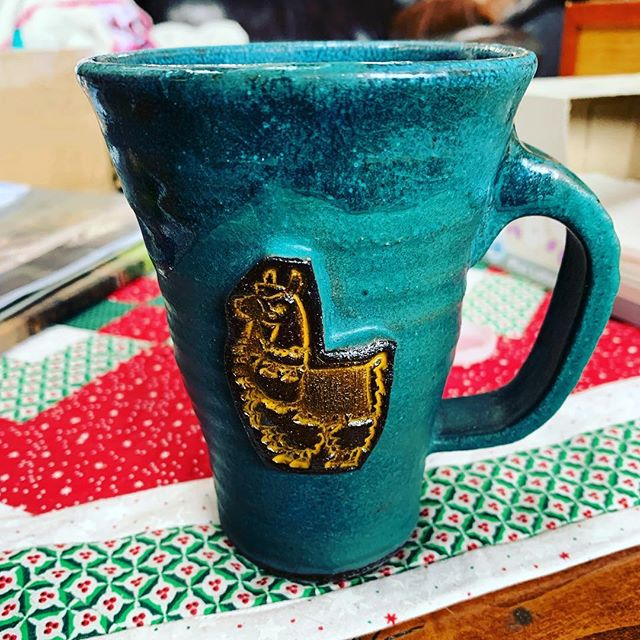 Llama 🦙 #mug #pottery #frasercolorado #