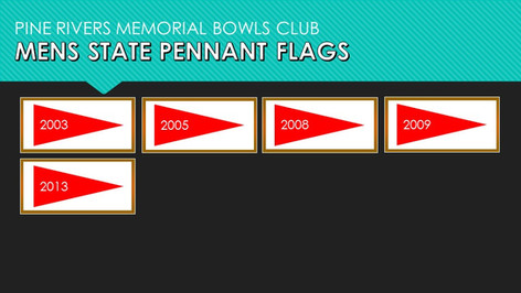 Mens State Pennant Flags