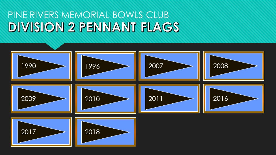 Division 2 Pennant Flags