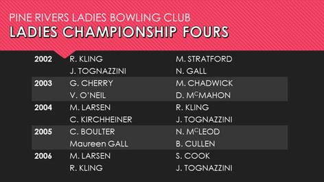 Ladies Championship Fours 2002-2006