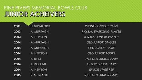 Junior Acheivers 2001-2005