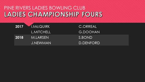 Ladies Championship Fours 2017-2018