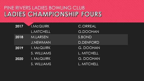 Ladies Championship Fours 2017-2020
