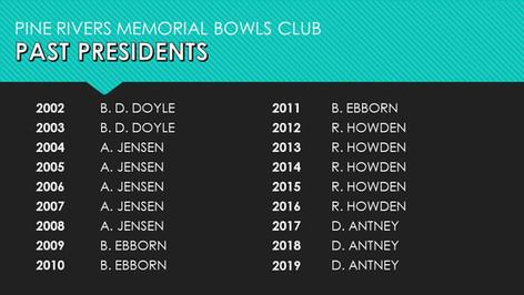 Past Presidents 2002-2019
