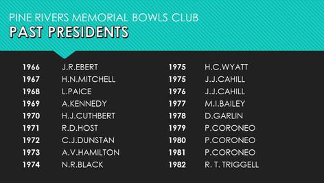 Past Presidents 1966-1982