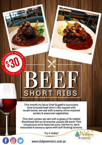 Beef Ribs Monthly Special