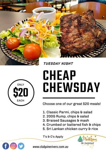 Cheap Chewsday