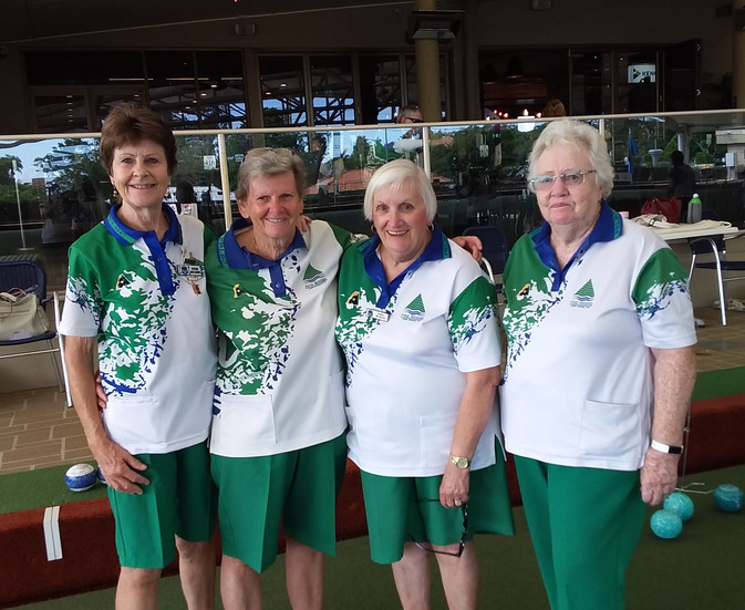 Championship Fours Runners Up 2021 - Susan Williams, Linda Mitchell, Ineka McQuirk, Gaye D