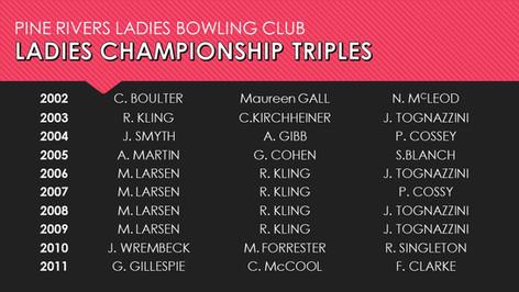 Ladies Championship Triples 2002-2011