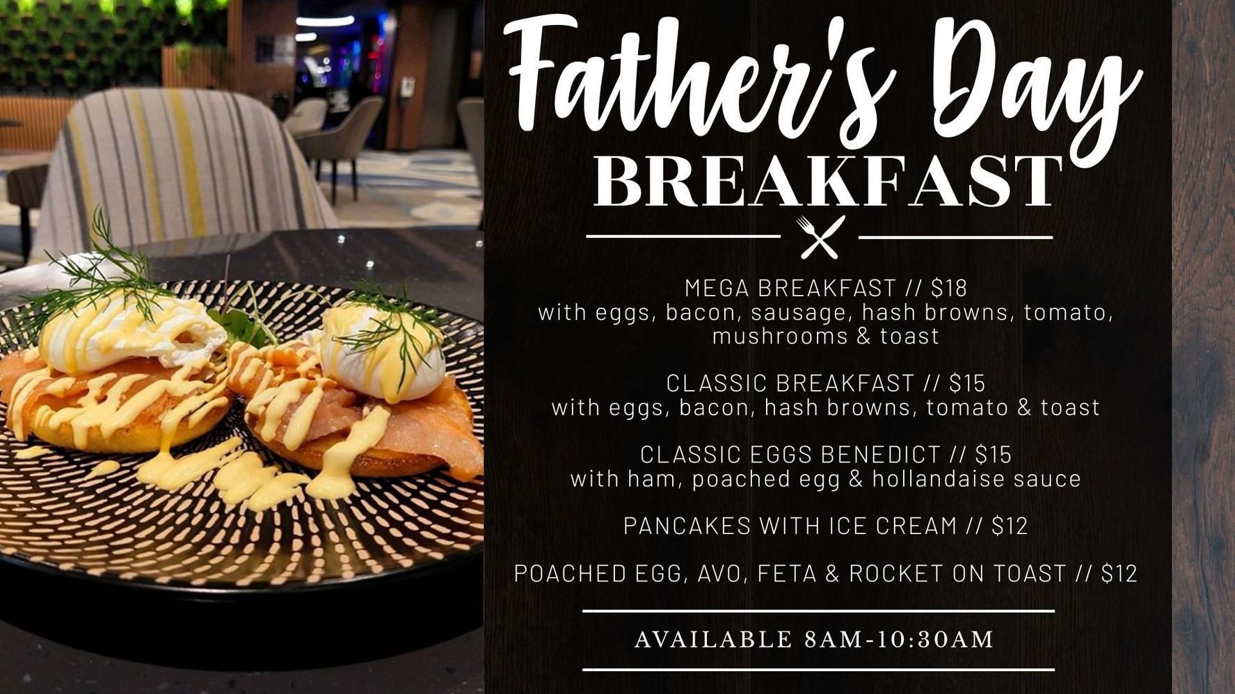 Father's Day Breakfast menu