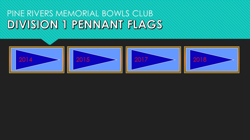 Division 1 Pennant Flags 2014-2018