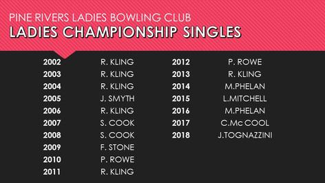 Ladies Championship Singles 2002-2018