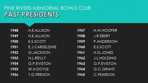 Past Presidents 1948-1965