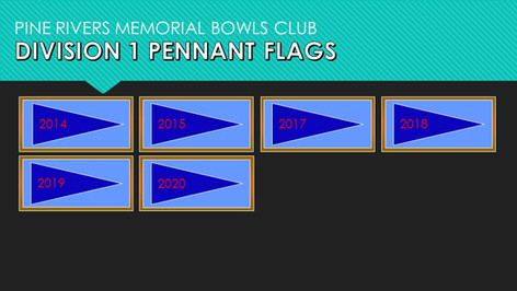 Division 1 Pennant Flags 2014-2020