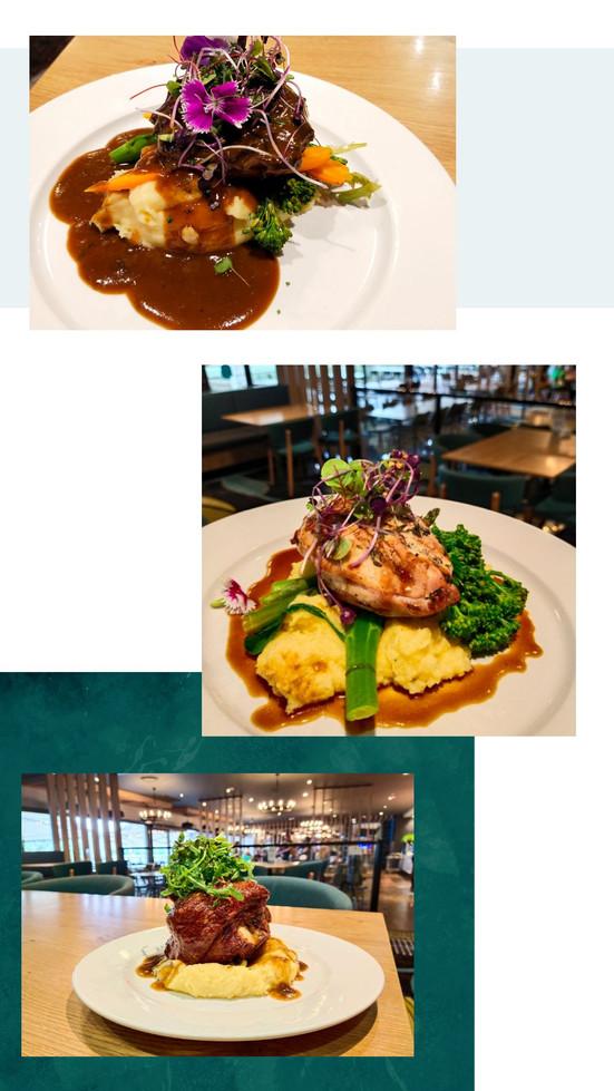 2020 Dinner Menu - Main Meal Photos