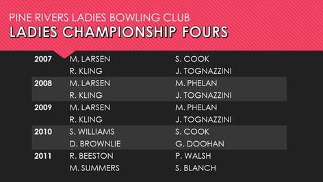 Ladies Championship Fours 2007-2011
