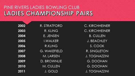 Ladies Championship Pairs 2002-2011