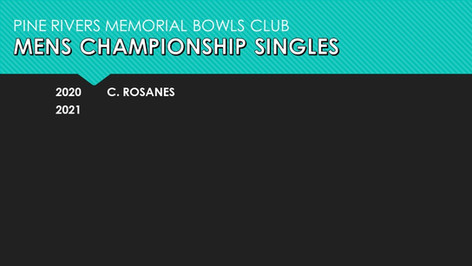 Mens Championship Singles 2020-2021