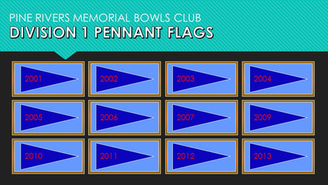 Division 1 Pennant Flags 2001-2013