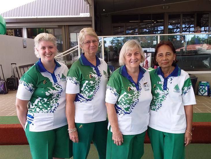 Championship Fours Winners 2021 - Jessica Parolin [sub], Sue Bond, Mareen Phelan, Dawn Den