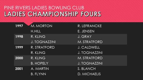 Ladies Championship Fours 1997-2001