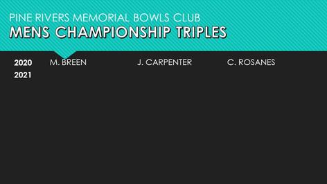 Mens Championship Triples 2020-2021