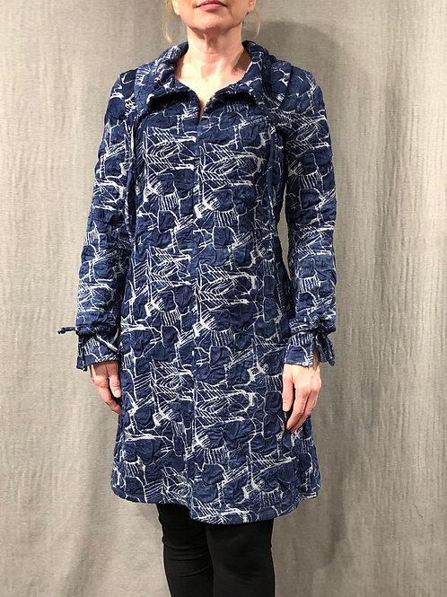 Robe évasée col châle froncé H20156