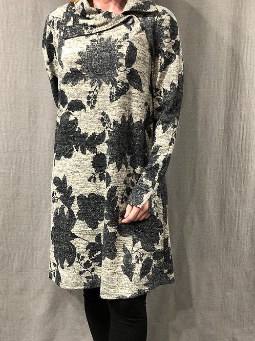 Robe trapèze col asymétrique H20172