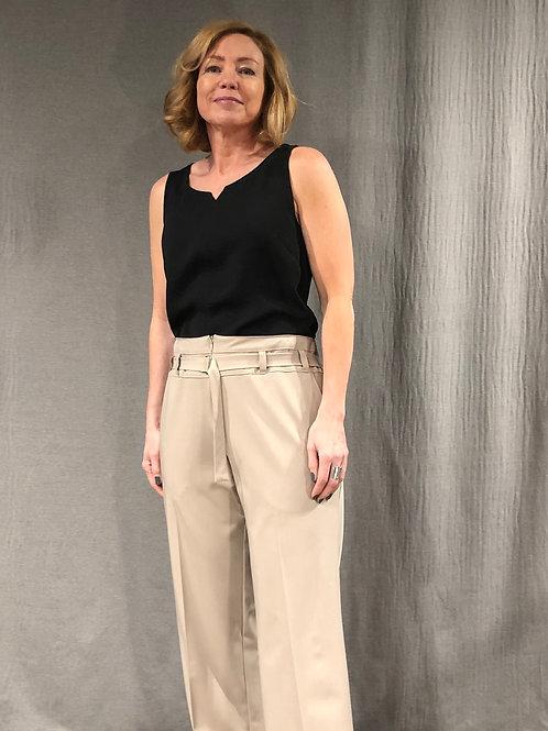 Pantalon droit ceinture coulissante  S589