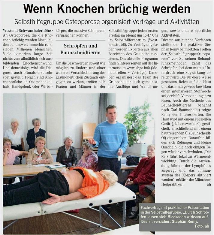 Artikel Osteoporose Heilpraktiker Stephan Remy