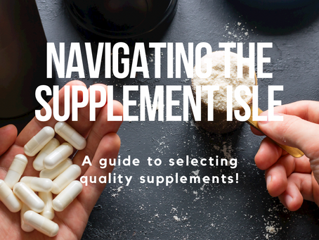 Navigating The Supplement Isle