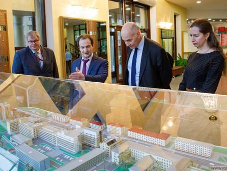 Визит председателя совета высшего образования Латвийской Республики в ВГМУ