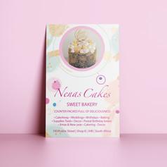 Identity and signage for the Nenas Cakes Bakery