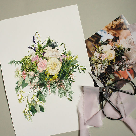 bouquet drawing