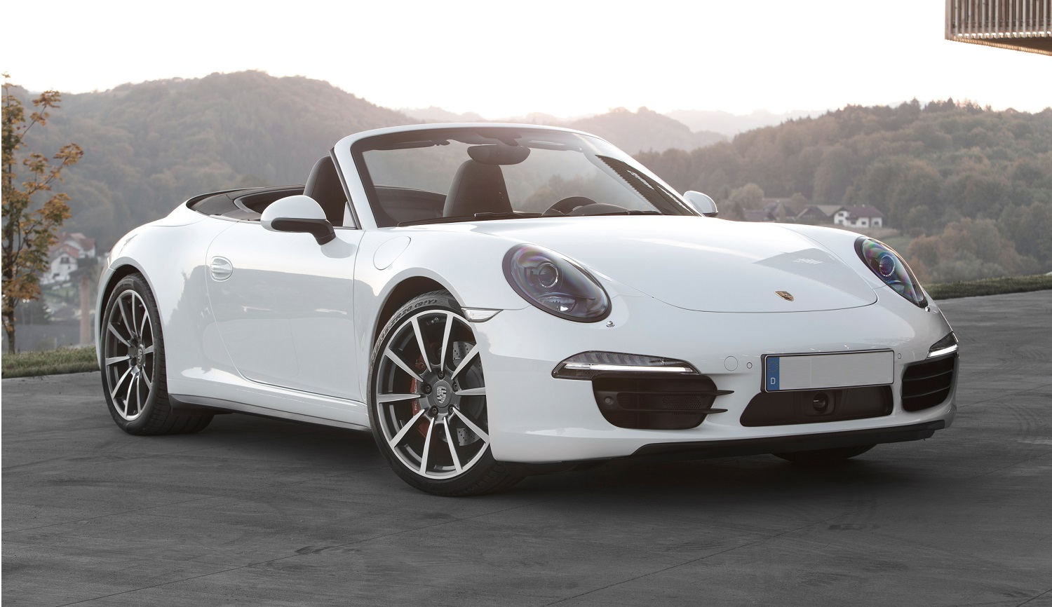 porsche 911 cabriolet - front- luxury car rental houston
