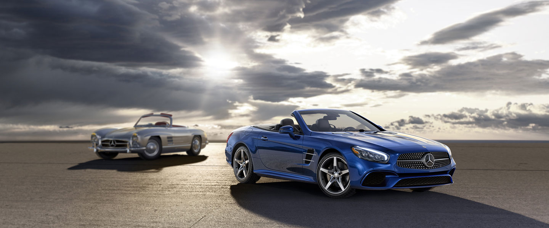 Mercedes Benz SL550-side2- Luxury car rental Houston