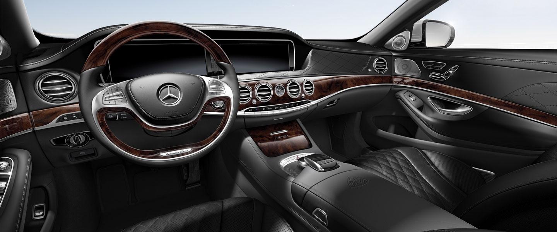 Mercedes S550 Coupe -interior- W luxury car rentals Houston