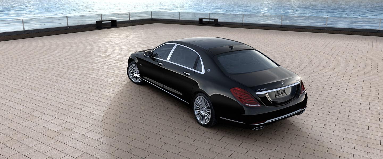 Mercedes  Maybach-back- luxury car rental houston