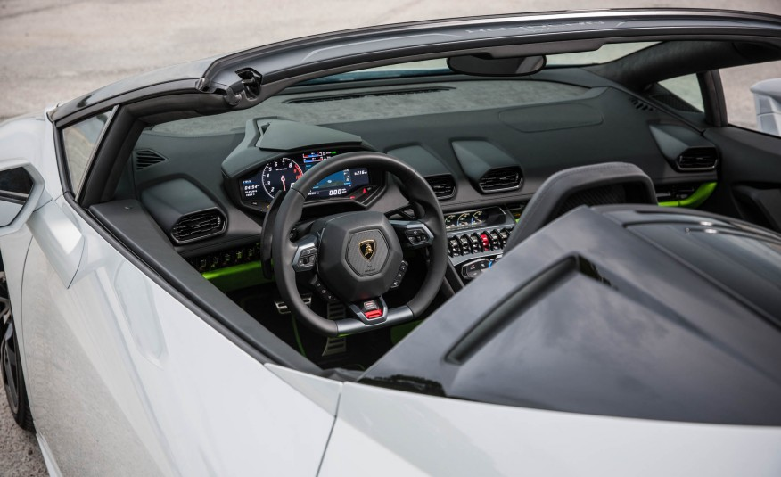 Lamborghini Huracan LP610 Spyder - Interior - W exotic car rentals