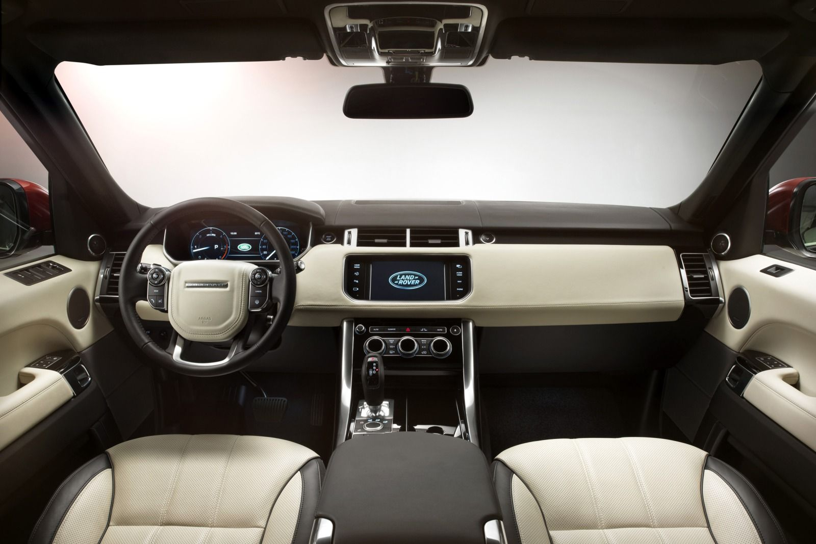 Range Rover Sport- interior- luxury car rental houston