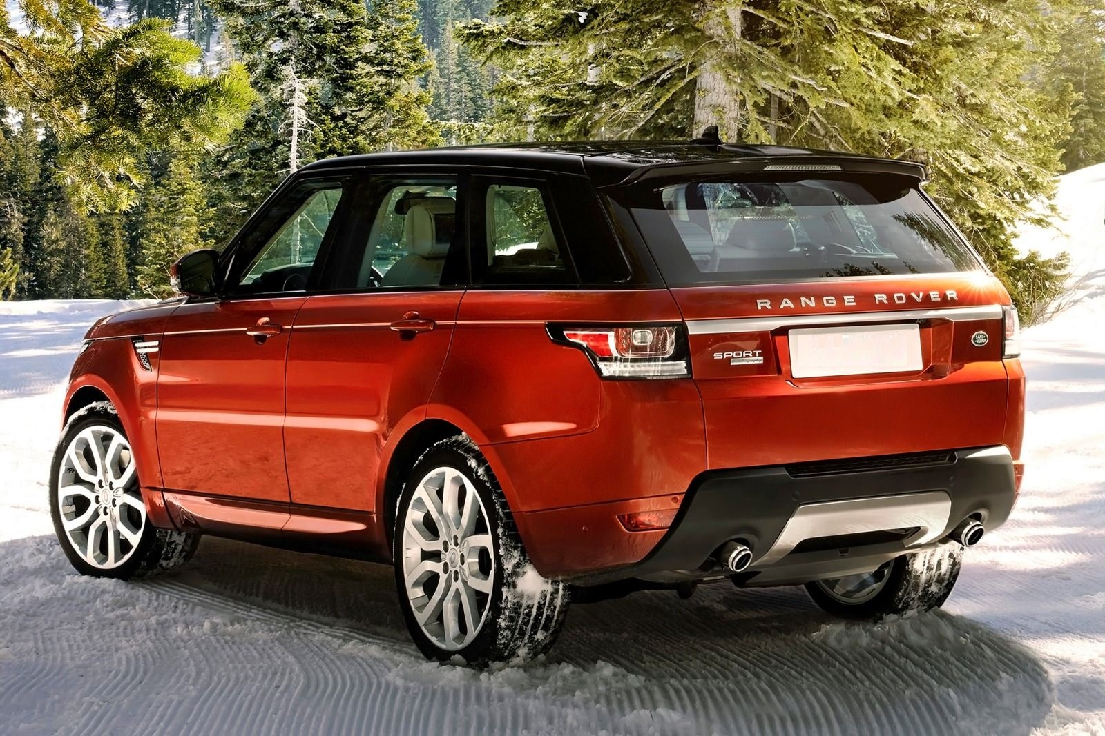Range Rover Sport- back- luxury car rental houston