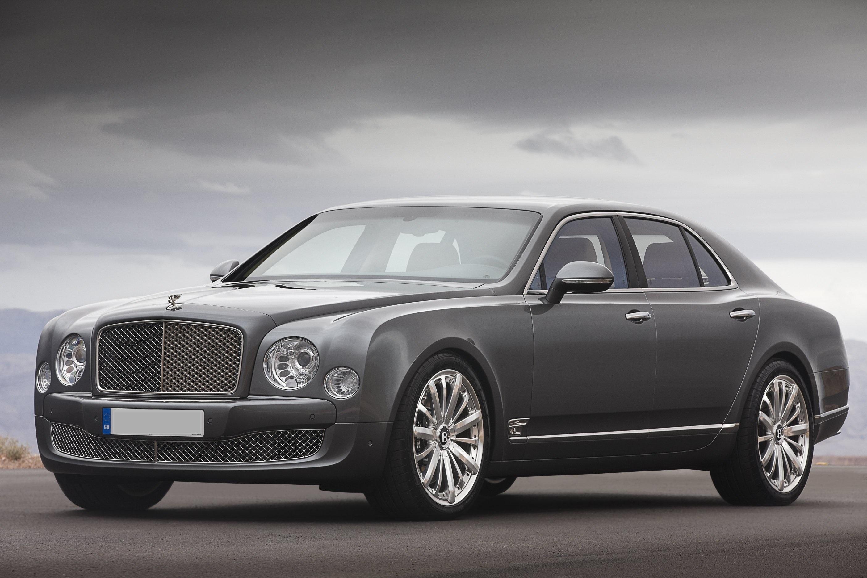 Bentley Mulsanne - front- Wedding rental Houston