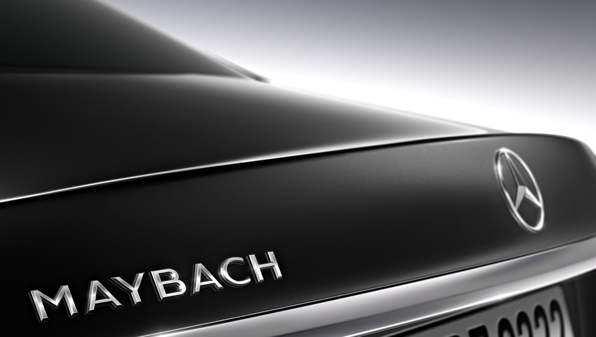 Mercedes MAYBACH - back logo - luxury car rental houston