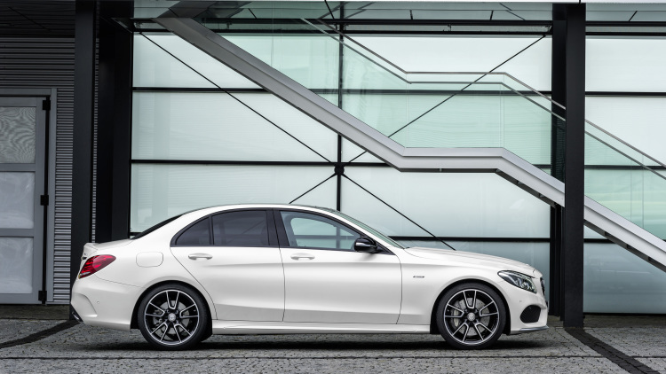 Mercedes Benz C300-side- luxury car rentals houston