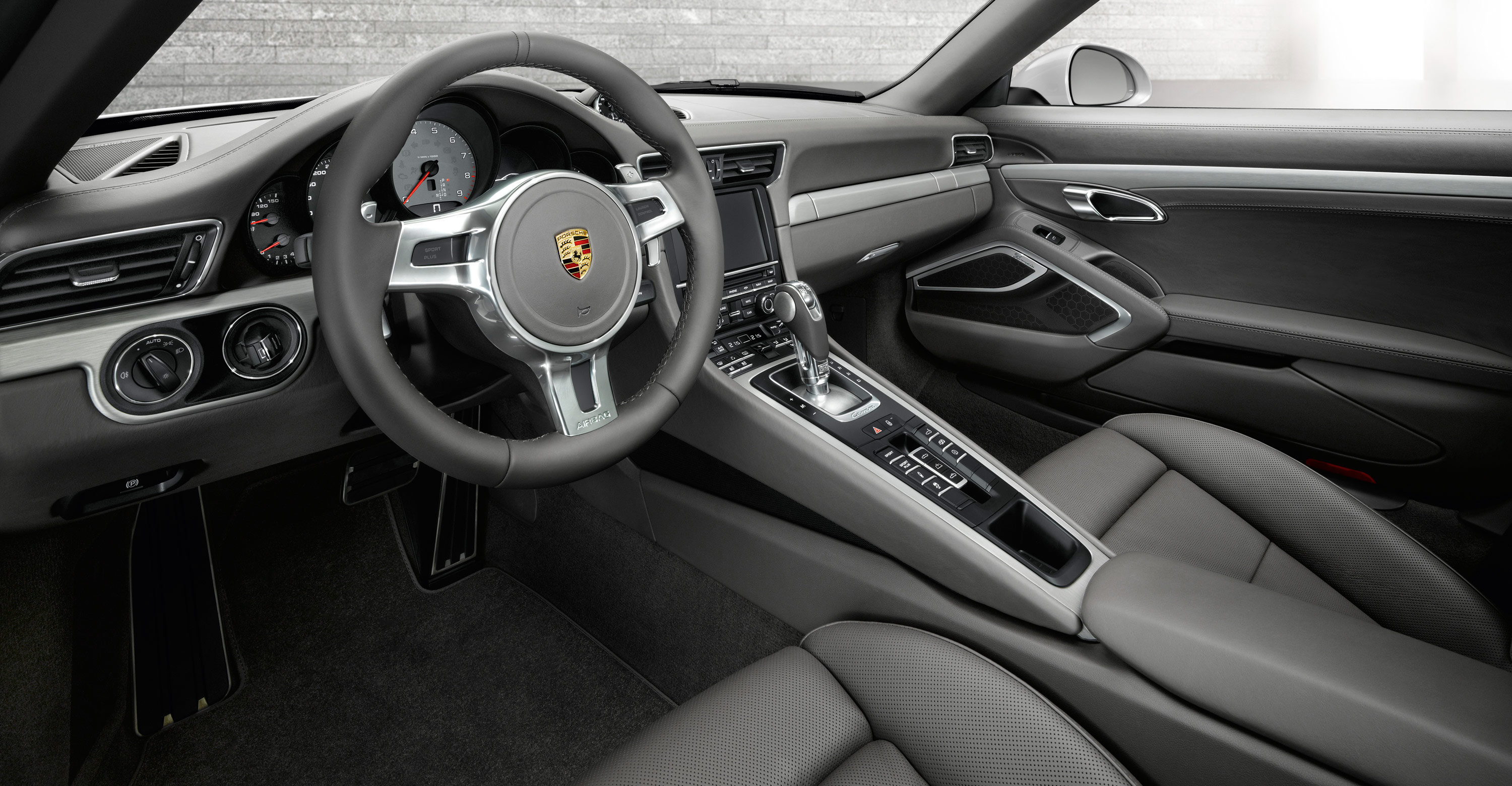 porsche 911 cabriolet - interior- luxury car rental houston
